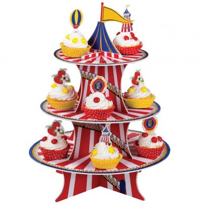 Red & Blue Cake Stand