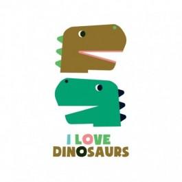 Kid tattoo I love Dinosaurs
