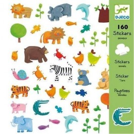 Σετ με 160 stickers - Little Animals