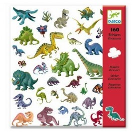 Set of 160 stickers - Dino