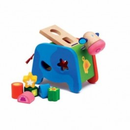 Maggy Shape Sorting Box - Cow