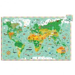 Djeco - Around the World 200 pc Observation Puzzle