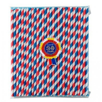 Blue & Red Straws