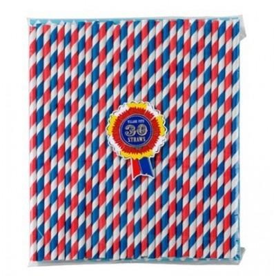 Blue & Red Straws