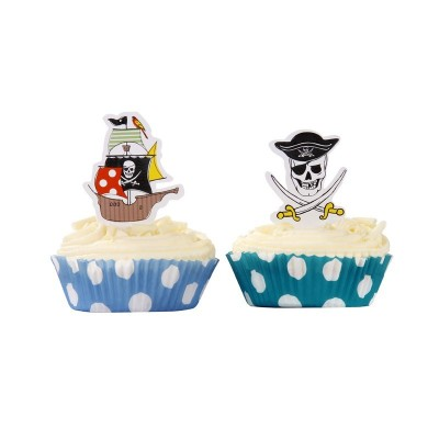 Pirate Party Cup Cake Wraps
