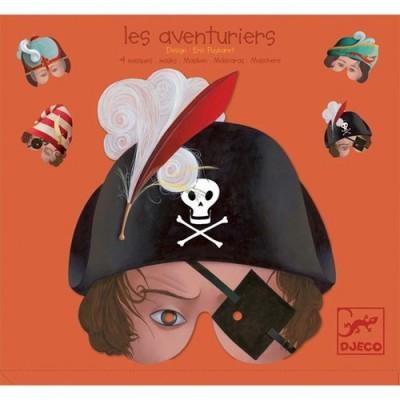 Σετ από 4 μάσκες πειρατών