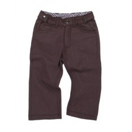 Organic Trousers in Chocolate color