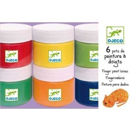 Djeco Finger paint - Set of 6