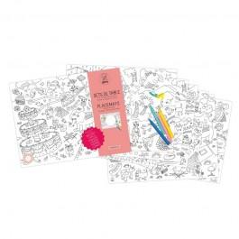 Paper coloring placemats- Fantastic