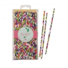 Floral Fiesta Paper Straws