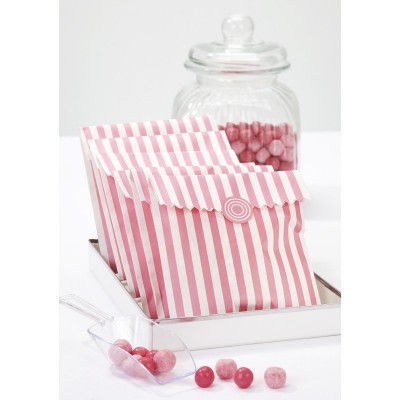 Pink Treat Bags & Stickers