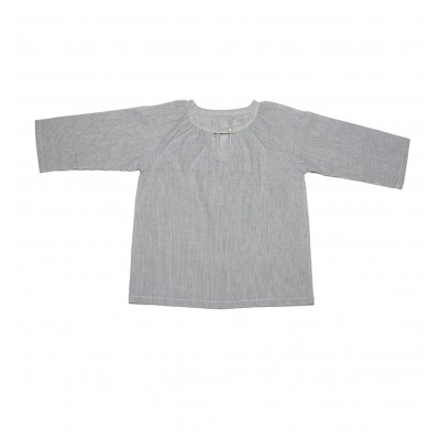 Pinstripe grey-white jumper