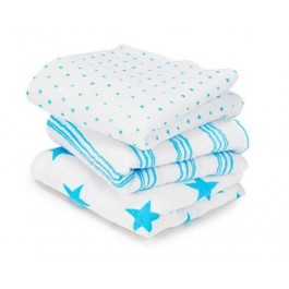 Musy Swaddle Fluro Blue- 3 Pack