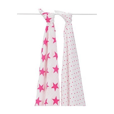 2 Set Swaddle - Fluro Pink (NEW)