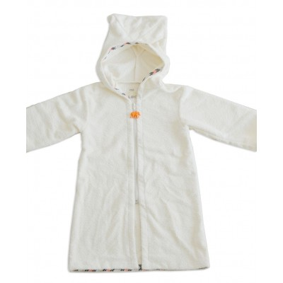 White Towelling Beach/Bath Robe