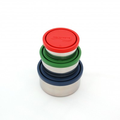 Set of 3 Round Containers - Ocean
