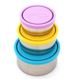Set of 3 Round Containers - Sky