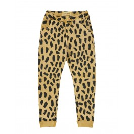 Semi Baggy Pants - Leopard Yellow