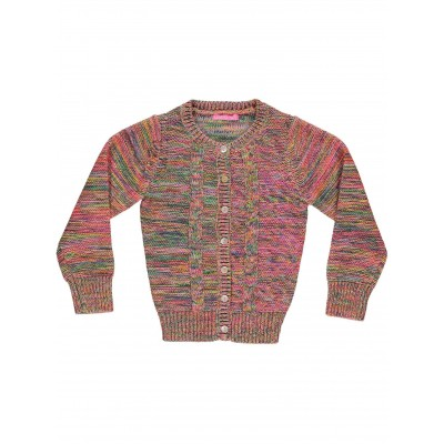 Multicolor Cable Cardigan