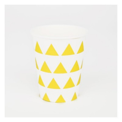 Cups with Yellow Triangles