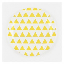 Paper Plates with Yellow Triangles