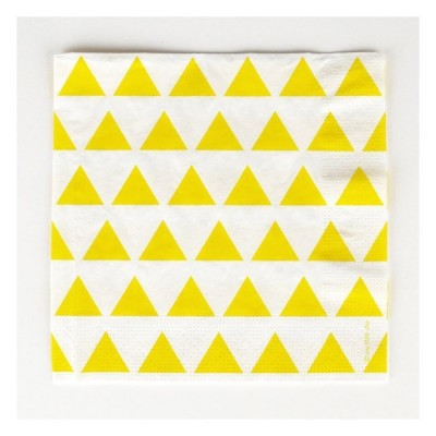 Yellow Napkins with yellow triangles