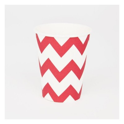 Cups in Red Chevron