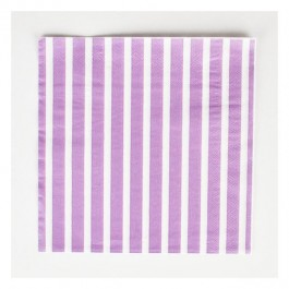 Napkins with Purple Stripes