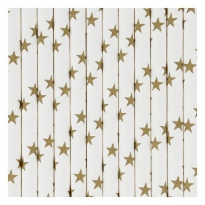 Paper Straws - Golden Stars