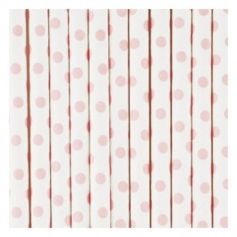 Paper Straws - Pink Dots
