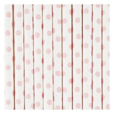 Paper Straws - Pink Dots