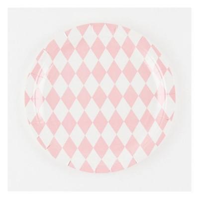 Paper Plates - Pink Diamonds