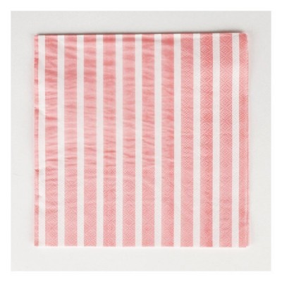 Napkins with Pink Stripes
