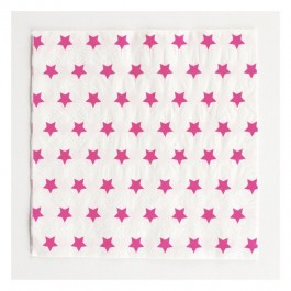 Napkins with Fuchsia Stars