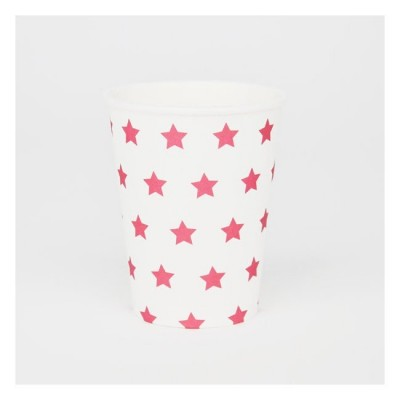 Cups with Fuchsia Stars