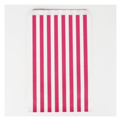 Treat Bags Fuschia Stripes