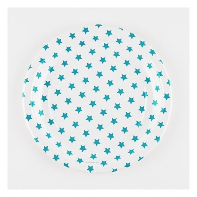Paper Plates - Blue Stars