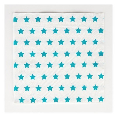 Napkins with Blue Stars