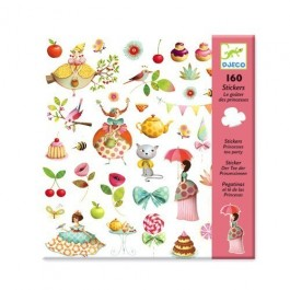 Set 160 stickers - Tea Party