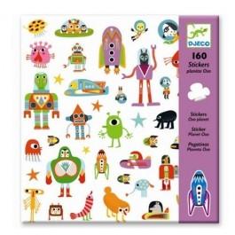 Σετ με 160 stickers - Εξωγήινοι