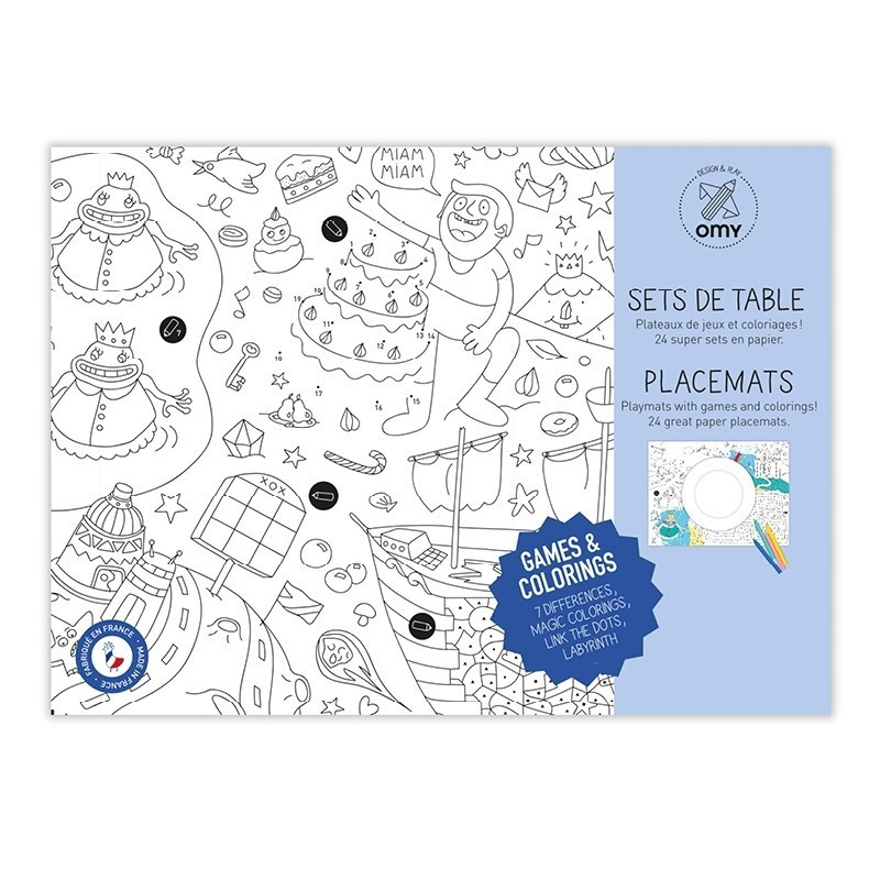 Paper Placemats Games Alice On Board