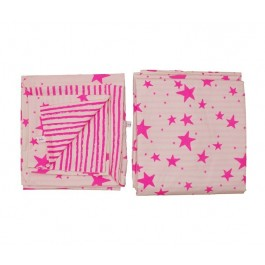 Bedding Set - Neon Pink Stars & Stripes