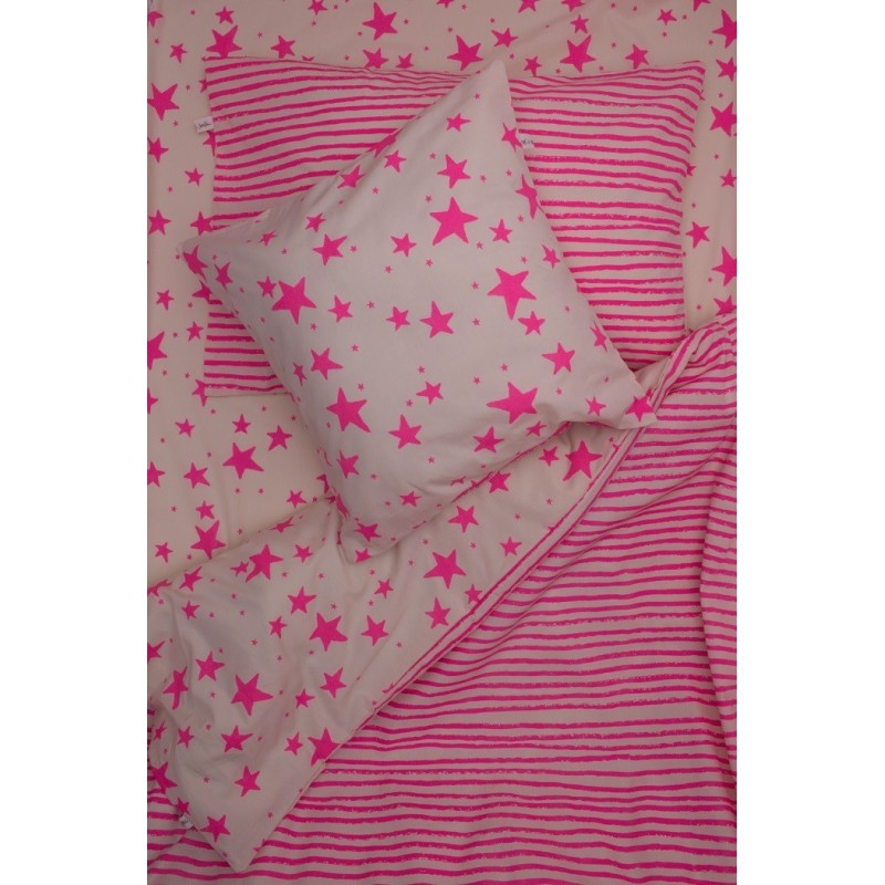 Bedding Set Neon Pink Stars Amp Stripes Alice On Board