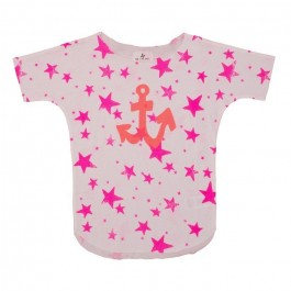 Tee Pink Stars with anchor