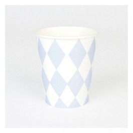 Cups with Blue Diamonds