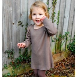 Knitted Ruffled organic dress