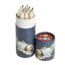 Spaceboy set of 12 coloring pencils