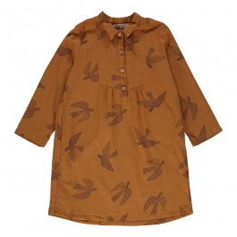 Shirt Dress Birds - Praline