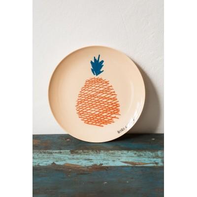 Melamine Plate Ananas- Bobo Choses Maison