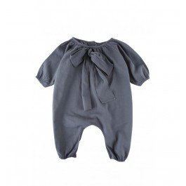 Bow Overall - Grey